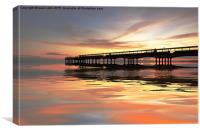 Sunset pier., Canvas Print