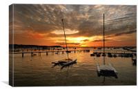 Twin sail sunset., Canvas Print