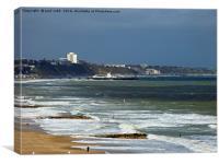 Bournemouth beach , Canvas Print