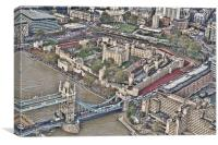 Tower of London from the Air, Canvas Print