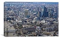 London from the air, Canvas Print