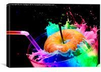 Apple Splash, Canvas Print