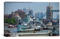 HMS Belfast, Canvas Print