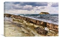 Approaching storm off Cyprus, Canvas Print