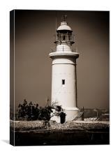 Paphos lighthouse Cyprus, Canvas Print
