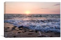 Wave break sunset, Canvas Print