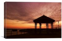 Sunset over Milford Haven, Canvas Print