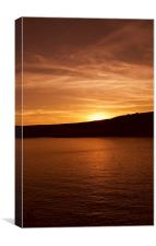 Sunset over Manorbier Bay, Canvas Print