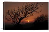 Sunset over The Ridgeway, Canvas Print