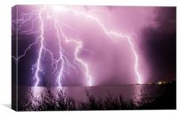 Clacton Pier & Lightning, Canvas Print