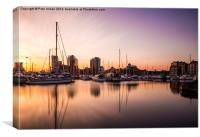 Ipswich Waterfront Sunset, Canvas Print