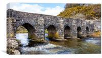 Landacre Bridge, Canvas Print