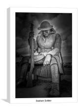 seaham harbour soldier, Canvas Print
