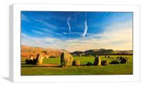 Castle rigg stone circle, Canvas Print