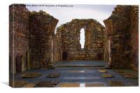 Glendalough Abbey, Canvas Print