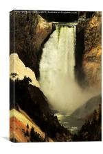 waterfall in the Grand Canyon of Yellowstone, Yel, Canvas Print