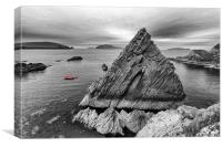 Dunquin Pier in mainly mono., Canvas Print