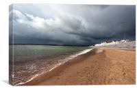 Storm over Exmouth, Canvas Print