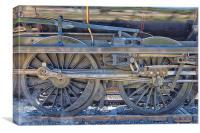 Train Wheels., Canvas Print