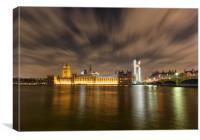 Westminster under repair, Canvas Print