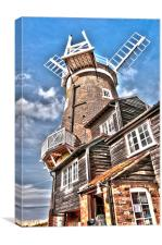 The Windmill at Cley, Canvas Print