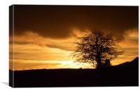 Sunset over Littleborough, Canvas Print