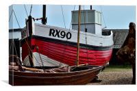 Ye Olde Fishing Boats, Canvas Print