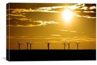 Turbine Sunset , Canvas Print