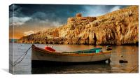 A Boat in Malta, Canvas Print