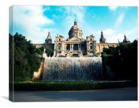 Palau Nacional Barcelona, Canvas Print