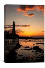 St. Mary's Lighthouse Sunrise, Canvas Print