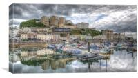 Torquay Harbourside Reflections, Canvas Print