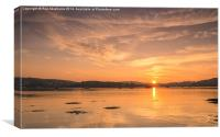 Sunset Over the Dart, Canvas Print