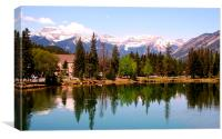 Reflections from Banff, Canvas Print