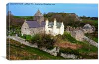 The  Augustinian priory at Penmon , Canvas Print