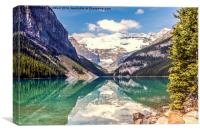 Reflections from Lake Louise Canada, Canvas Print