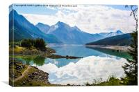Medicine Lake Canadian Rockies, Canvas Print