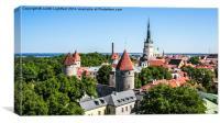 Skyline of Tallinn Estonia , Canvas Print