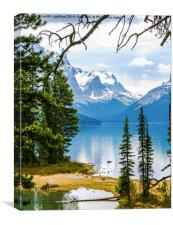 The Maligne Lake Canada , Canvas Print