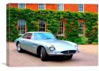 Iconic Ferrari at Hedingham Castle, Canvas Print