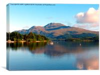 The peacful tranquility of Loch Lommond, Canvas Print