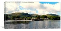 THE DELIGHTFUL VILLAGE OF LUSS ON LOCH LOMMOND , Canvas Print