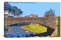 DELIGHTFUL LYNMOUTH VILLAGE, Canvas Print