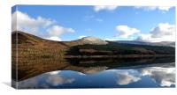 Reflections on Loch Doon Scotland, Canvas Print