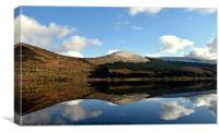 Mirror image on Loch Doon, Canvas Print