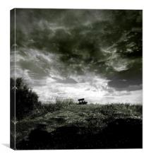 On The Dyke Blach And White, Canvas Print