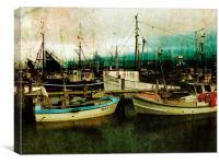Stille ruht im Hafen..., Canvas Print