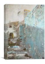 Blue Entrance, Canvas Print