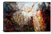 Graffited Man, Canvas Print