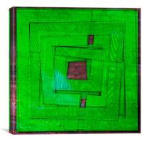 Subterfuge Green Marker, Canvas Print
